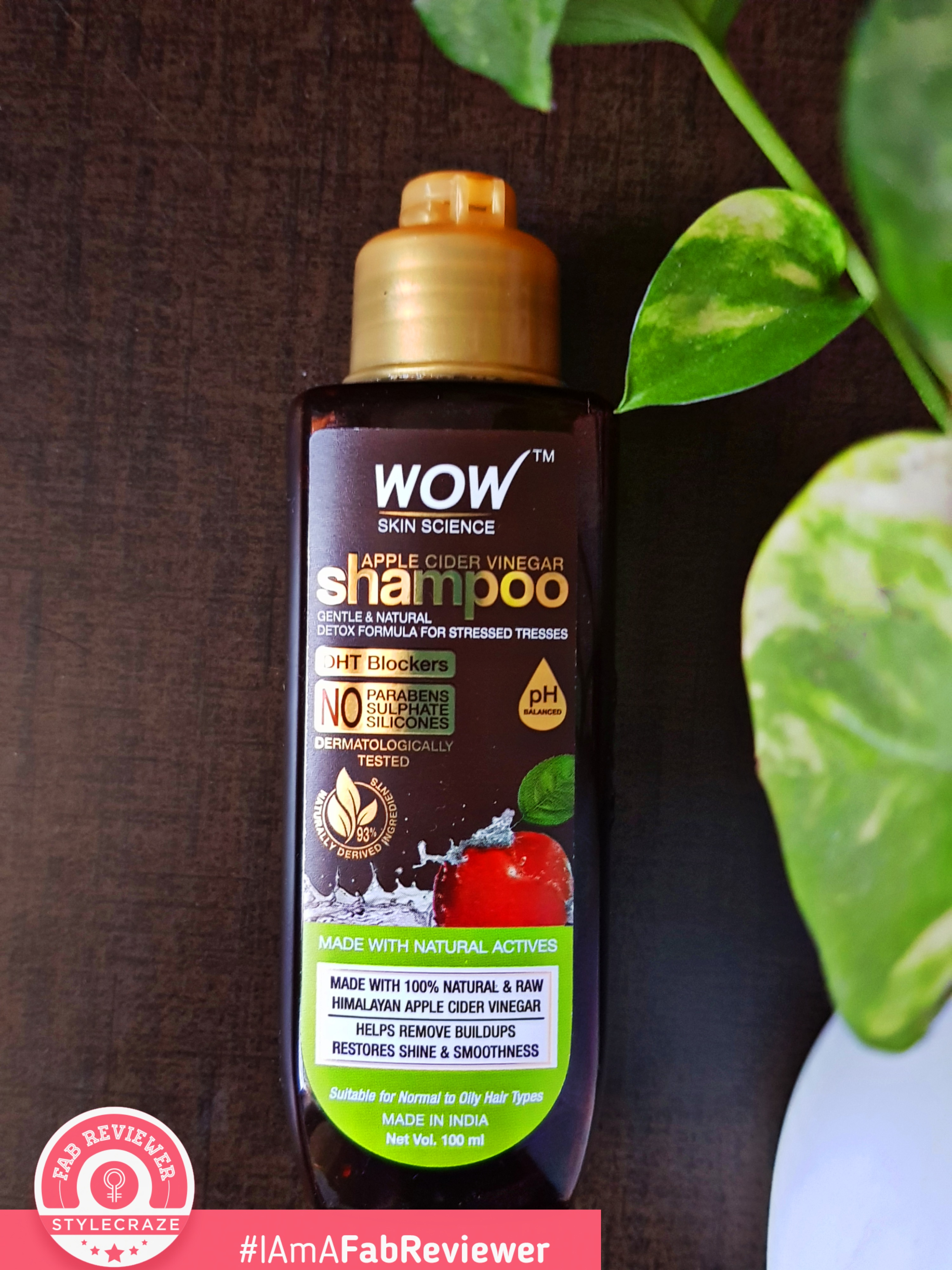 WOW Skin Science Apple Cider Vinegar Shampoo - No Parabens & Sulphate - 300 ml-Complete HairCare Package-By dressup_