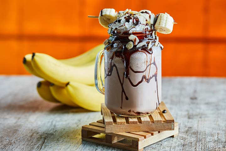 Banana choco smoothie