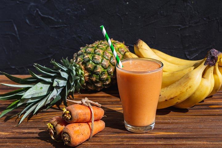 Carrot vegan smoothie