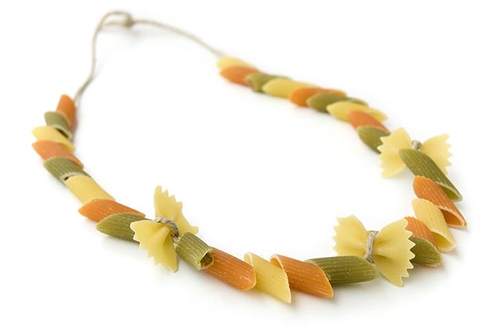 Create pasta jewelry