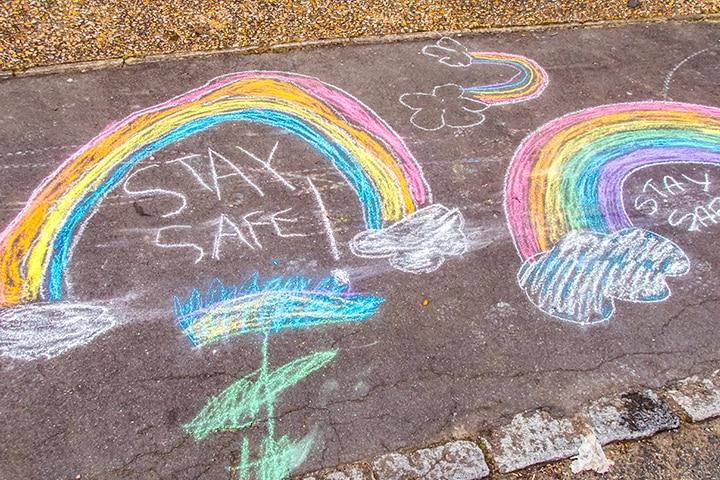Create sidewalk art