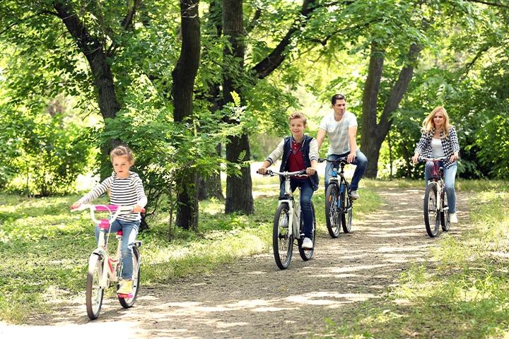 Enjoy bike rides