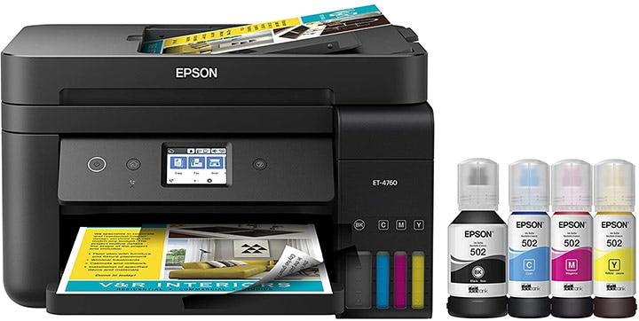 Epson Ecotank ET-4760 Wireless Supertank Printer
