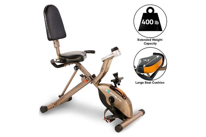 Exerpeutic Gold 525XLR Folding Recumbent Exercise