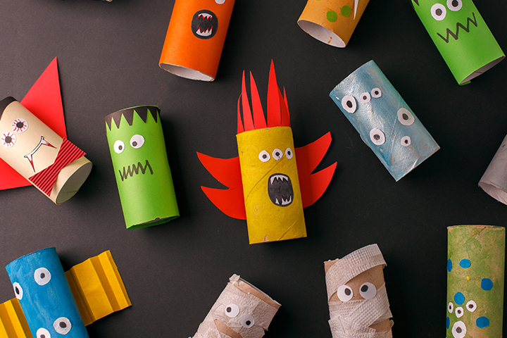 Get crafty with toilet roll tubes