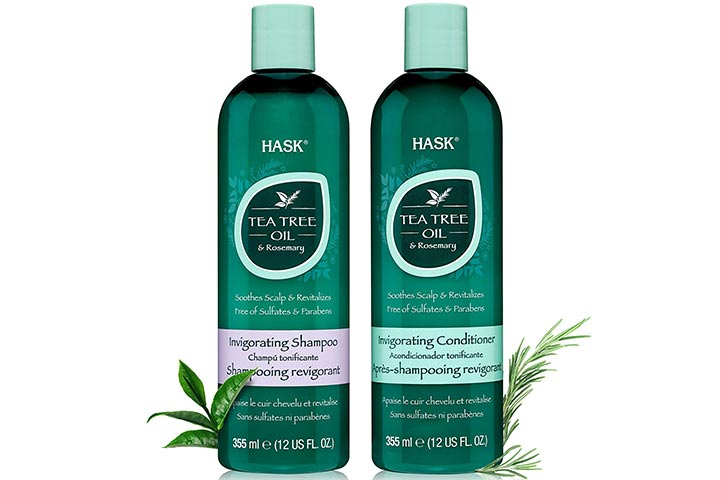 Hask Tea Tree Oil And Rosemary Shampoo And Conditioner Set