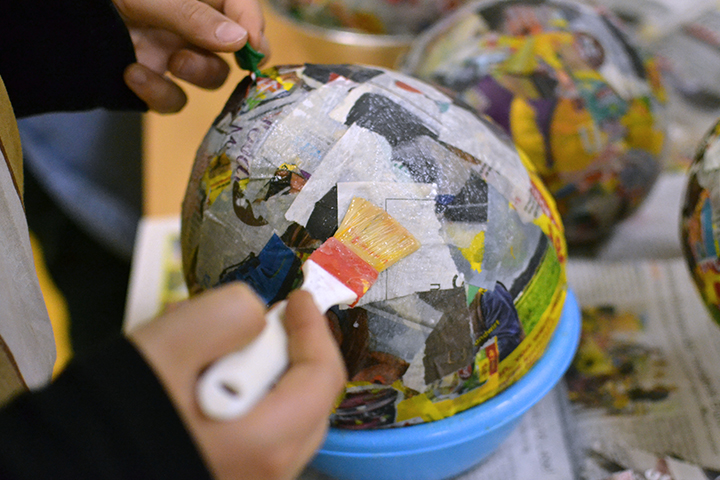 Have fun with paper mache
