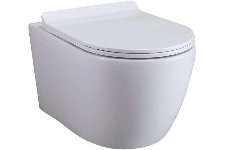 Homary Wall Hung Elongated Toilet Bowl