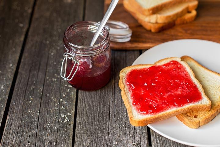 Jam bread finger