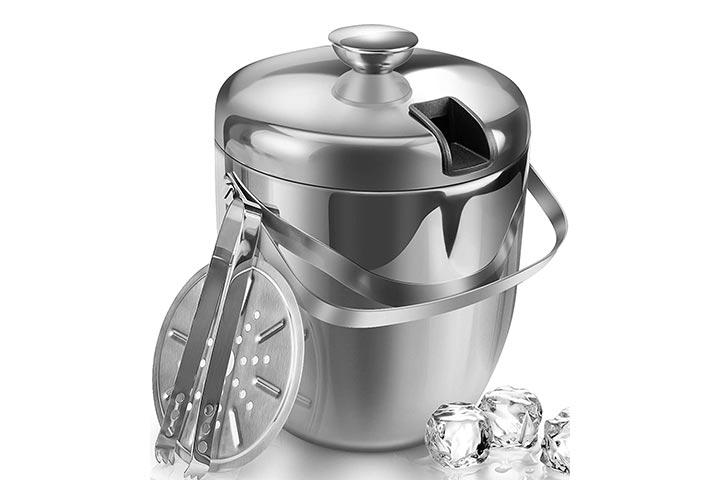 Jozo Ice Bucket With Lid And Tong