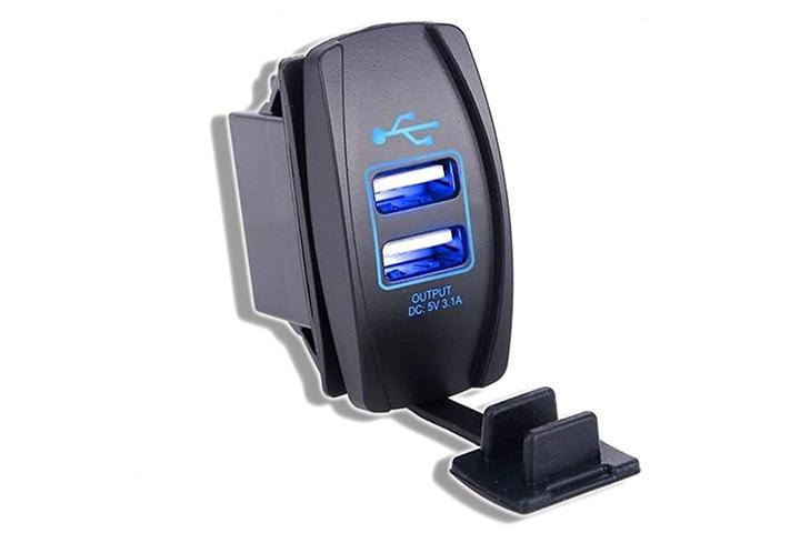 MLC 3.1Amp Universal Dual Port USB Charger Socket