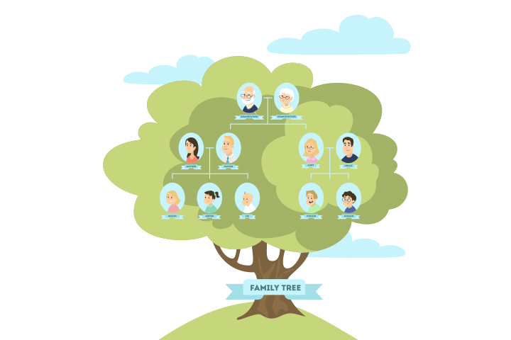 Map out a family tree