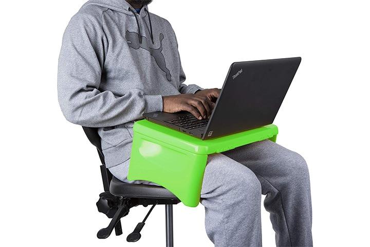 Mind Reader LAPSTOR Green Portable Lap Desk