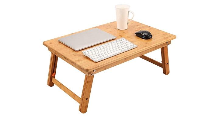 Nnewvante Foldable Bamboo Lap Desk