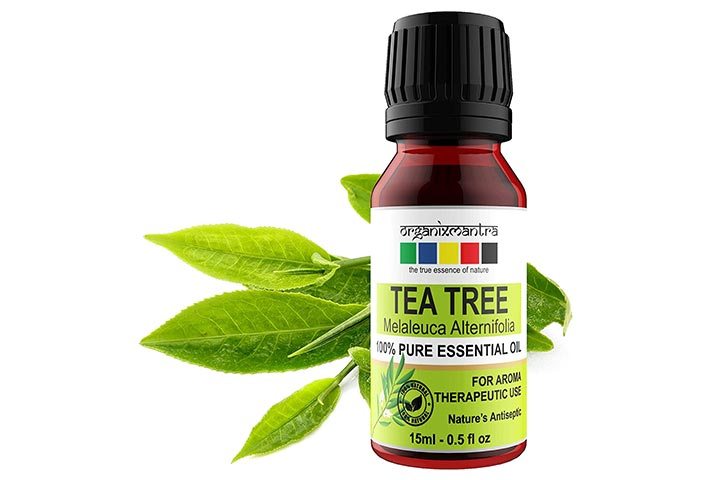 Organix Mantra Tea Tree Essential Oil For Skin, Hair, Face, And Acne Care