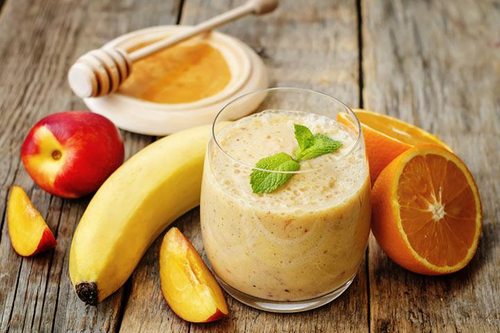 Peachy banana smoothie