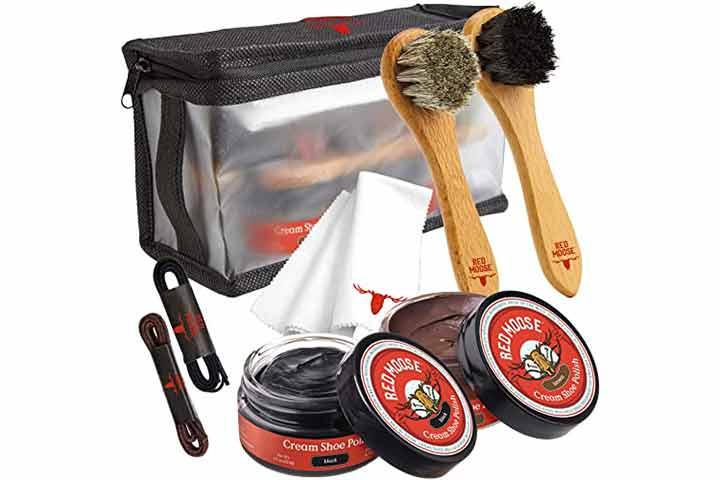 Red Moose Full Leather Shoe Polish Kit