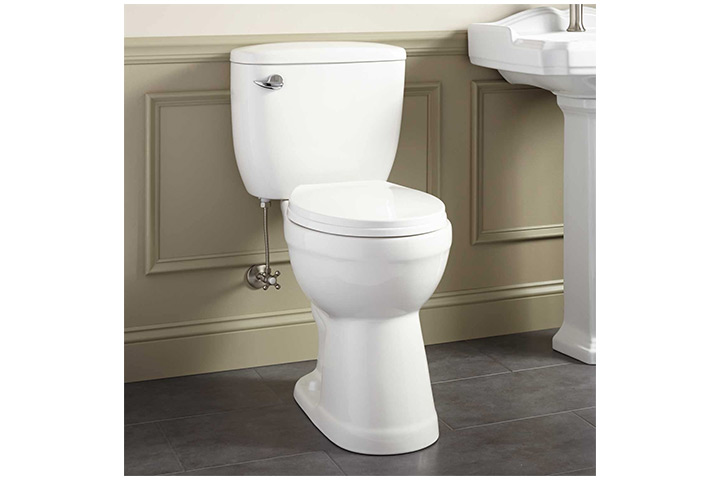 Signature Hardware Two-Piece Round Toilet