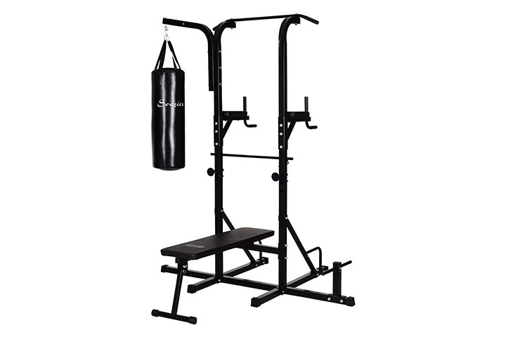 Soozier Power Tower With Bench and Punching Bag