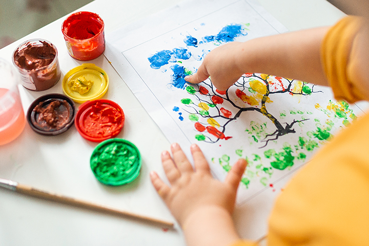 Try finger painting