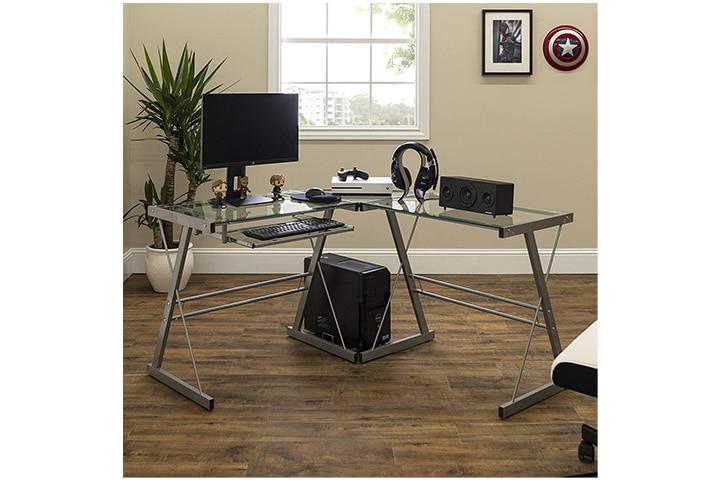 Walker Edison L-Shaped Modern Corner Desk