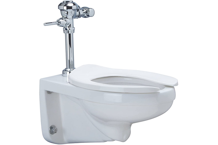 Wall Hung Elongated Toilet System With Top Spud