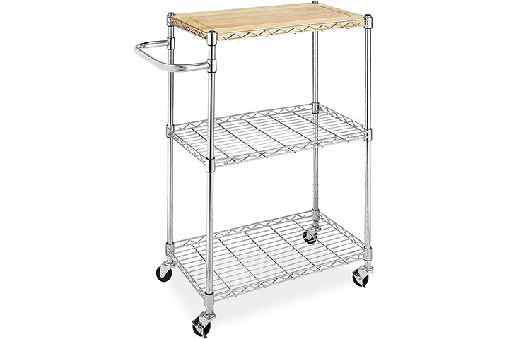 Whitmor Kitchen and Microwave Cart
