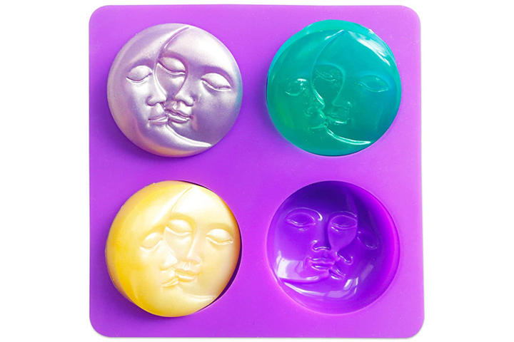 Sun & Moon Silicone Soap Molds