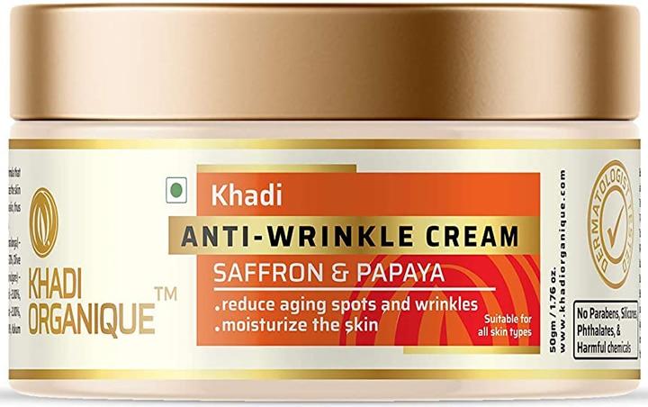 Khadi Organique Saffron Papaya Anti Wrinkle Cream