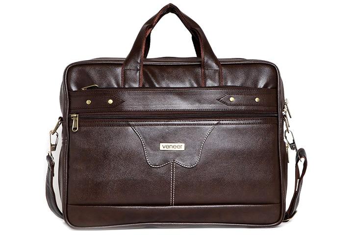 Veneer Men's Synthetic Leather Laptop Messenger Bag