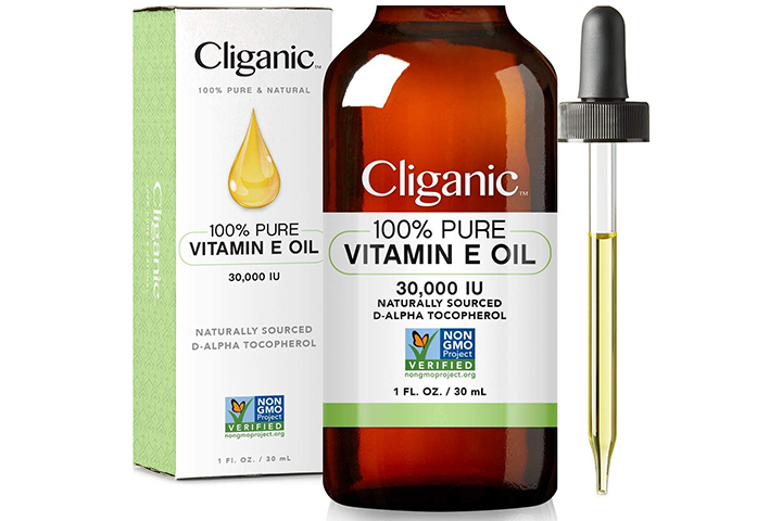 Cliganic 100% Pure Vitamin E Oil For Skin, Hair, And Face