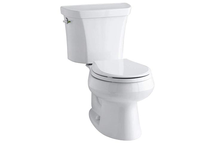 Kohler Wellworth Two-Piece Round-Front Dual-Flush Toilet