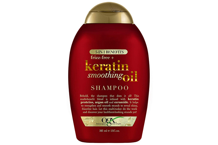 OGX Frizz Free Keratin Smoothing Oil Shampoo For Frizzy Hair