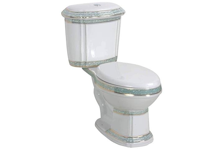 Renovators Supply India Reserve Elongated Two-Piece Bathroom Toilet