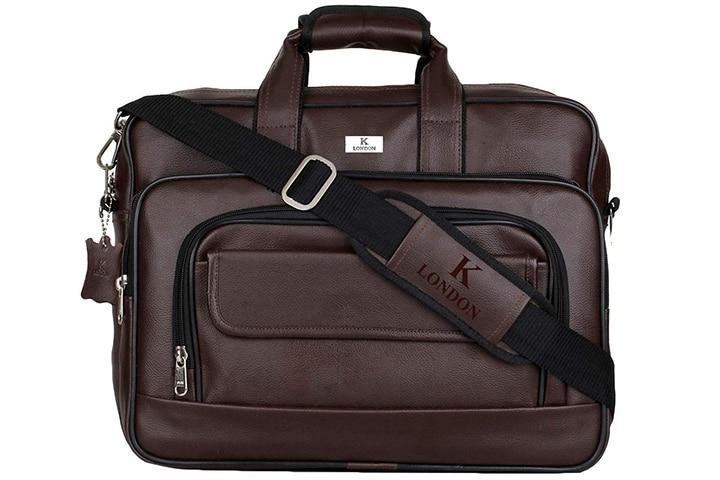 K London Artificial Leather Handmade Laptop Bag
