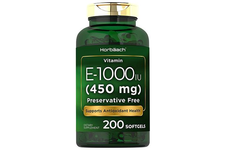 Horbaach Vitamin E 1000 IU Softgel Capsules