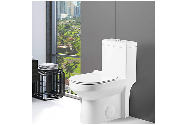 Fine Fixtures Dual-Flush Round One-Piece Toilet