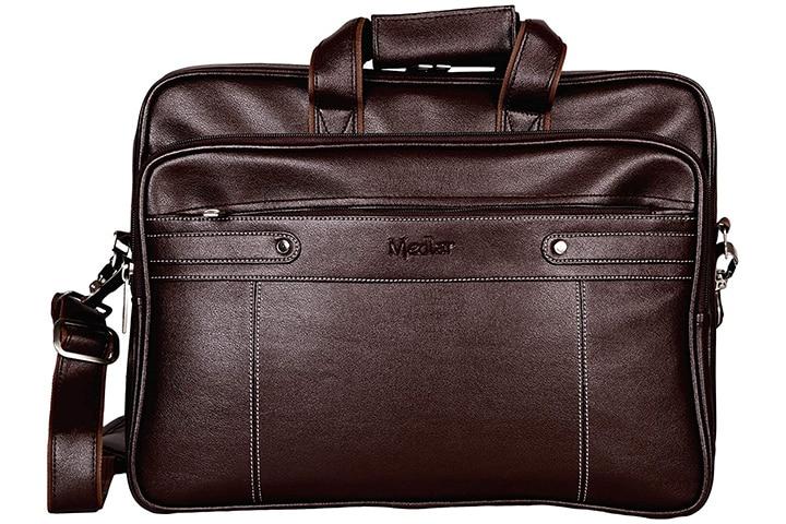 Medlar Leather Laptop Formal Office Messenger Bag