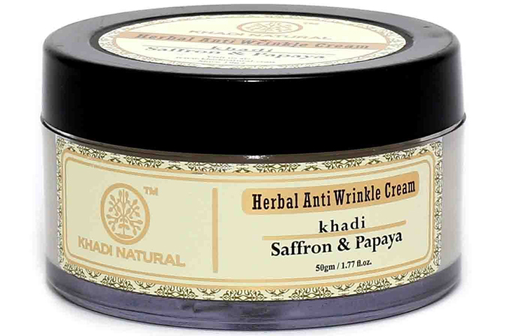 Khadi Natural Saffron and Papaya Herbal Anti Wrinkle Cream