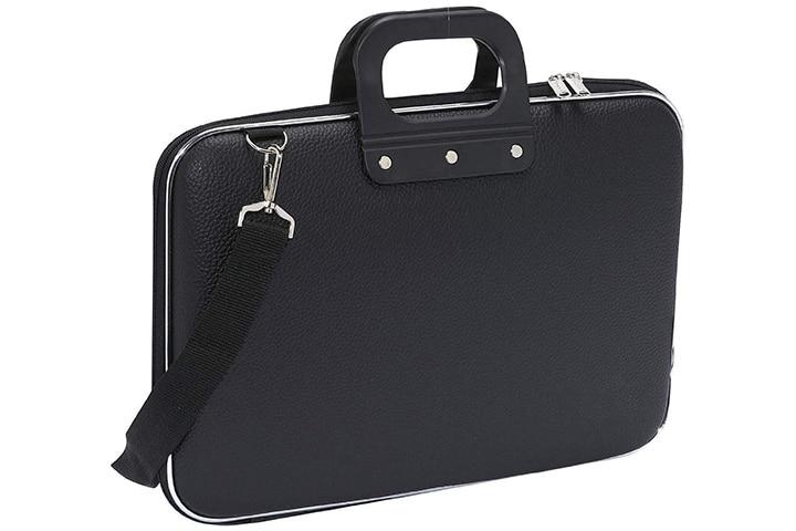 ShopHere Unisex Soft Shell PU Leather Laptop Messenger Bag