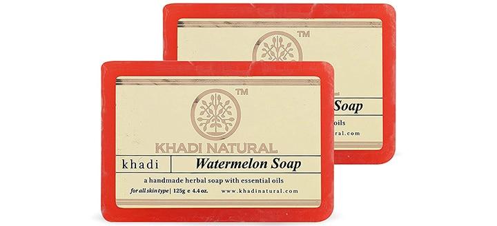 Khadi Essentials Desi Gulab, Watermelon & Butter Luxe Bath Bar