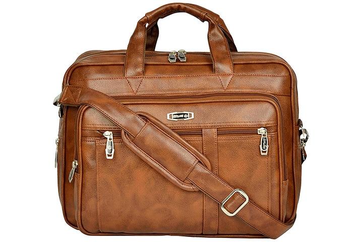 Zipline Leather Office Laptop Messenger Bag