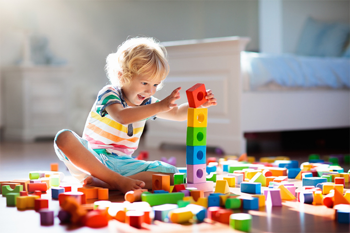 Building with toys