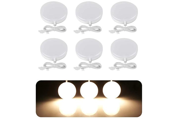 LE LED Under-Cabinet Puck Light Fixtures