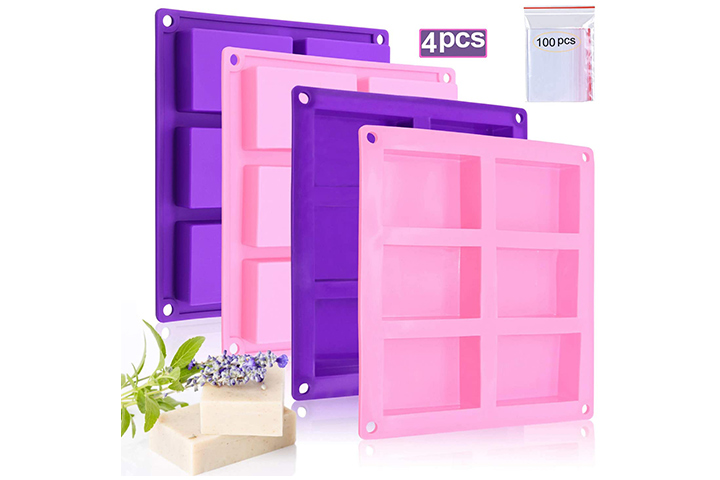 Bangp Rectangle Silicone Soap Molds