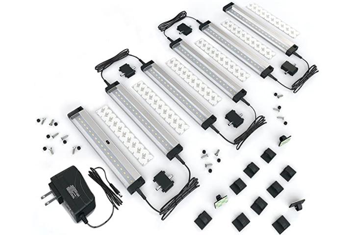 EShine 6 Panels 7-Inch LED Dimmable Under-Cabinet Lighting Kit