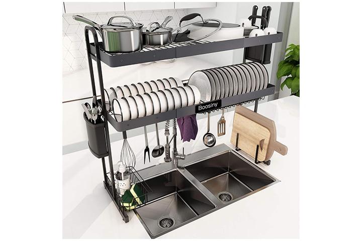 Boosiny Over Sink Dish Drying Rack