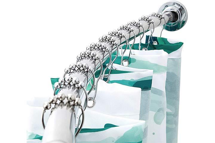 Briofox Adjustable Curved Shower Curtain Rod