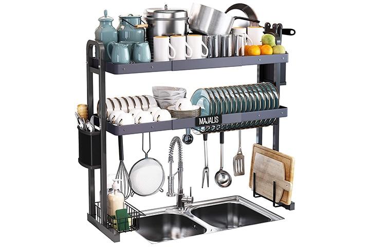 Majalis Over The Sink Dish Drying Rack
