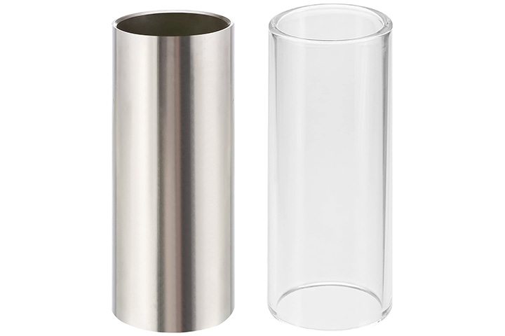 Pangda 2 Pieces Glass Slide and Stainless Steel Slide